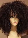 Äkta hår Helnät utan lim Hel-spets Peruk stil Brasilianskt hår Kinky Curly Peruk 130% Hårtäthet med babyhår Naturlig hårlinje Afro-amerikansk peruk 100 % handbundet Dam Korta Mellan Lång Äkta peruker