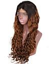 Äkta hår Halvnät utan lim Spetsfront Peruk Beyonce stil Brasilianskt hår Naturligt vågigt Nyans Peruk 130% 150% Hårtäthet med babyhår Ombre-hår Naturlig hårlinje Afro-amerikansk peruk 100 % handbundet