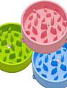 L Katt Hund Matbehållare Husdjur Skålar och matning Vattentät Bärbar Dubbelsidigt Grön Blå Rosa