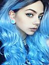 Syntetiska peruker Vågigt Vågigt Peruk Blå Syntetiskt hår Dam Ombre-hår Blå