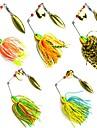 5 pcs Fiskbete Spinnfluga Metallbete Spinner bete Sjunker Bass Forell Gädda Sjöfiske Kastfiske Spinnfiske Bly Metall / Jiggfiske / Färskvatten Fiske / Abborr-fiske / Drag-fiske / Generellt fiske