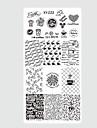 10pcs/set Nail Art Tool Nail Painting Tools Nail Stamping Tool Mall Moderiktig design nagel konst manikyr Pedikyr Stilig / Mönstrad / Hög kvalitet / stämpling Plate