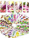 48pcs/set Vattenövergångsklistermärke / Nail Sticker Blomma / Nail Decals Klistermärken / Nail Art Design