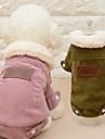 Katt Hund Kappor Vinter Hundkläder Rosa Kaffe Kostym Plysch Enfärgad Ledigt / vardag Mode S M L XL