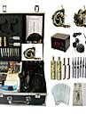 BaseKey Professionell Tattoo Kit Tattoo Machine - 2 pcs Tatueringsmaskiner LCD strömförsörjning LCD strömförsörjning 2 x legering tatuering maskin för lining och skuggning / Fodral inkluderat