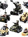 Sluban Byggklossar Militära block Byggsats Leksaker 928 pcs Militär Stridsvagn Soldier kompatibel Legoing Kreativ Häftig Klassisk & Tidlös Chic och modern Tecknat Pojkar Flickor Leksaker Present