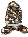 Katt Hund Regnjacka Hundkläder Kamoflagefärg Gul Röd Kostym Nylon Enfärgad Ledigt / vardag Vattentät Sport XS S M L XL XXL