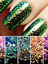 1set Glitter Paljetter nagel konst manikyr Pedikyr Dagligen Glitters / Neon & Bright / Mode