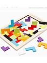 Montessori – pedagogiska leksaker Tetris Byggklossar Träpussel 1 pcs Originella Utbilding Pojkar Flickor Leksaker Present