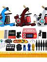 Solong Tattoo Professionell Tattoo Kit Tattoo Machine - 3 pcs Tatueringsmaskiner, Professionell LCD strömförsörjning 3 x legering tatuering maskin för lining och skuggning