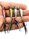 4 pcs Fiskbete Pimplar Metallbete Fastsjunkande Bass Forell Gädda Sjöfiske Kastfiske Spinnfiske Bly Metall / Jiggfiske / Färskvatten Fiske / Abborr-fiske / Drag-fiske / Generellt fiske