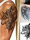 1 pcs Tatueringsklistermärken tillfälliga tatueringar Totemserier / Djurserier / Art Deco / Retro Vattentät / 3D Body art Kropp / skuldra / Ben