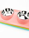 1 Katt Hund Skålar & Vattenflaskor Rostfritt stål Plast Vattentät Enfärgad Grön Blå Rosa Skålar och matning