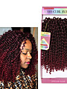Hår till flätning Lockigt Hårförlängningar av äkta hår Weave 3pcs / förpackning Hårflätor Korta Dagligen