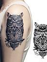 1 pcs tillfälliga tatueringar Vattentät / 3D brachium / Bröst Papper Tatueringsklistermärken