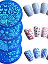 7pcs/Set Nail Art Tool Nail DIY Tools Nail Painting Tools Mall Moderiktig design nagel konst manikyr Pedikyr Stilig / Präglad / Mönstrad / Mönster / stämpling Plate