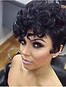 Syntetiska peruker Lockigt Afro Lockigt Afro Peruk Korta Svart Syntetiskt hår Dam Svart
