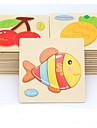 Pedagogiska kort Pussel Träpussel Fisk Djur GDS (Gör det själv) Tecknat Pojkar Flickor Leksaker Present