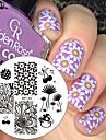 1 pcs Stämpelplatta Mall nagel konst manikyr Pedikyr Mode Dagligen / stämpling Plate