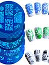 1pcs Nail Art Tool Nail DIY Tools Nail Painting Tools Mall Moderiktig design nagel konst manikyr Pedikyr Stilig / Professionel / Hög kvalitet / stämpling Plate