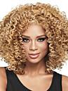 Syntetiska peruker Lockigt Afro Lockigt Afro Peruk Blond Mellan Blond Syntetiskt hår Dam Blond