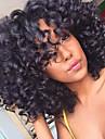 Syntetiska peruker Lockigt Afro Lockigt Afro Frisyr i lager Peruk Mellan Lång Svart Syntetiskt hår Dam Afro-amerikansk peruk Till färgade kvinnor Svart