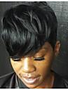 Syntetiska peruker Naturligt vågigt Naturligt vågigt Peruk Korta Kolsvart Syntetiskt hår Svart MAYSU