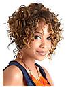 Syntetiska peruker Lockigt Afro Lockigt Afro Spetsfront Peruk Korta Beige Syntetiskt hår Dam Hår med highlights / balayage Svart