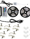 2*5M 5050 10mm RGB 600 Led Strip Lights Kit Waterproof with 44key IR Controller1to2 and 12V 6A Power Supply