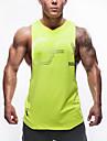 Herr Gymlinne Klassisk Neon grön Mörkblå Grå Bomull Löpning Motion & Fitness Fritid Sport Sport Sportkläder Andningsfunktion Snabb tork Oelastisk