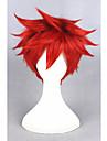 Syntetiska peruker Kostymperuker Rak Rak Peruk Korta Röd Syntetiskt hår Dam Röd