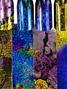 4pcs/set Klistermärken Folieklistermärke nagel konst manikyr Pedikyr Moderiktig design / Mousserande Glitter / Nail Decals Dagligen / Ledigt / vardag