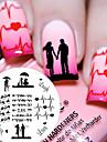 1 pcs Stämpelplatta Mall Moderiktig design / Alla hjärtans dag nagel konst manikyr Pedikyr Chic och modern Dagligen / stämpling Plate / Stål