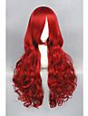 Syntetiska peruker Lockigt Lockigt Peruk Lång Röd Syntetiskt hår Dam Röd