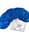 21pcs Stamper & Scraper Stämpelplatta Mall nagel konst manikyr Pedikyr Mode Dagligen / Silikon / Plast / stämpling Plate / Stål