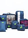 7 st Travel Organizer / Bagageorganisatör Stor kapacitet / Vattentät / Bärbar Kläder / Skor Nylon Resor / Hållbar