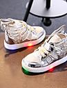 Flickor Skor Syntetiskt / Textil Vår / Höst Lysande skor Sneakers Spänne / LED för Guld / Silver / Rosa / Fest / afton