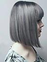 Syntetiska peruker Vågigt Vågigt Peruk Grå Syntetiskt hår Grå