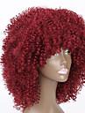 Syntetiska peruker Rak Kinky Rakt Kinky Rakt Sexigt Lockigt Peruk Mellan Röd Syntetiskt hår Dam Afro-amerikansk peruk Röd