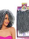 Lockigt Hårförlängningar av äkta hår Weave Nyans Syntetiskt hår flätor Korta Hår till flätning 3pcs / förpackning