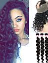 Indiskt hår Löst vågigt 360 Frontal Hårförlängning av äkta hår 4 delar En Pack Lösning