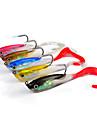 5 pcs Fiskbete Mjukt bete Pimplar shad Sjunker Bass Forell Gädda Sjöfiske Kastfiske Spinnfiske Mjuk plast Bly Silikon / Jiggfiske / Färskvatten Fiske / Karpfiske / Abborr-fiske / Drag-fiske