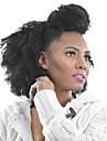 PANSY Klämma in Människohår förlängningar Kinky Curly Äkta hår Brasilianskt hår Svart
