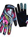 QEPAE Vinter Cykelhandskar Bergscykling Andningsfunktion Anti-halk Svettavvisande Skyddande Helt finger Aktivitet/Sport Handskar Regnbåge för Vuxna Utomhus