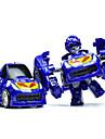 Robotar Leksaksbilar Skyltfönstermodeller Byggklossar 3D-pussel Utbildningsleksak 1 pcs Bilar Maskin Robotar omvandlings Unisex Pojkar Leksaker Present