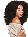 Syntetiska peruker Afro Kinky Curly Lockigt Afro Peruk Lång Svart Syntetiskt hår Dam Värmetåligt Afro-amerikansk peruk Svart