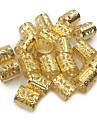Peruktillbehör Legering Braiding Pärlor Dagligen Klassisk Silver Brun Blandad färg