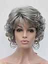 Syntetiskt hår peruker Lockigt Utan lock Karneval peruk Halloween Paryk Naturlig peruk Korta Grå