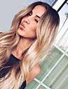 Syntetiska peruker Naturligt vågigt Kardashian Stil Middle Part Utan lock Peruk Black-Blonde Ljusguldig Blond Syntetiskt hår Dam Moderiktig design / Mode / Bröllop Black-Blonde / Nyans Peruk Lång