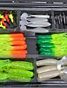 2 pcs Mjukt bete Lock förpackningar Fiskbete Mjukt bete Sjunker Bass Forell Gädda Kastfiske Plast